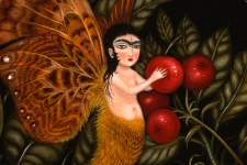 'Fairy collecting cherries'